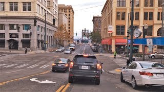 Driving Downtown - Tacoma 4K - USA