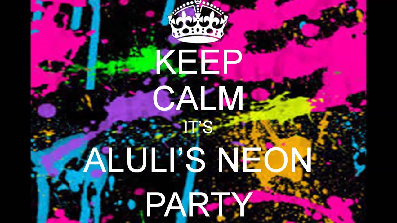 alulis th neon party invitation, Party invitations