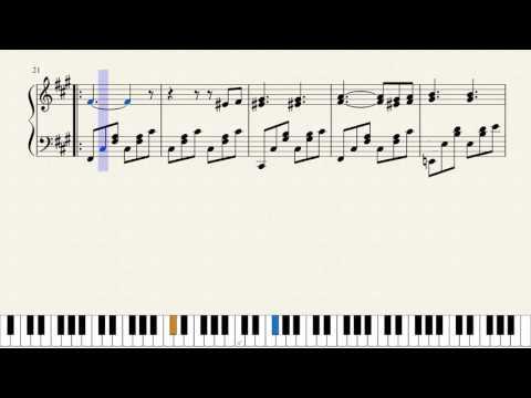 Mendelssohn, Venetian Gondola Song,  Op.30, No.6 [Piano Tutorial + Sheets]