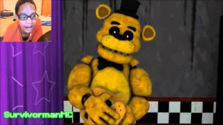 [FNAF SFM] Just Gold Redux REACTION | Time For The Main Attraction