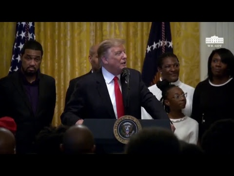 President Trump Participates in a Reception for Black History Month