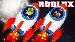 FLYING TO THE MOON in ROBLOX ROCKET SIMULATOR