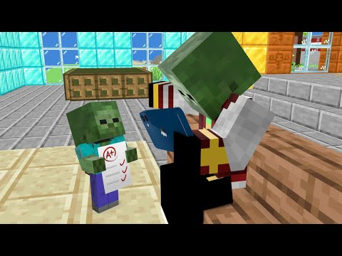MONSTER SCHOOL : RICH AND POOR, ZOMBIE FAMILY - SAD STORY - MINECRAFT ANIMATION