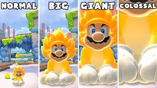 Bowser's Fury - Mini vs Small vs Big vs Giant vs Giga vs Colossal Mario