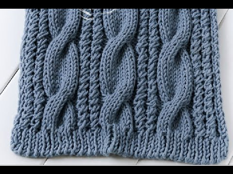 How to knit a cable scarf