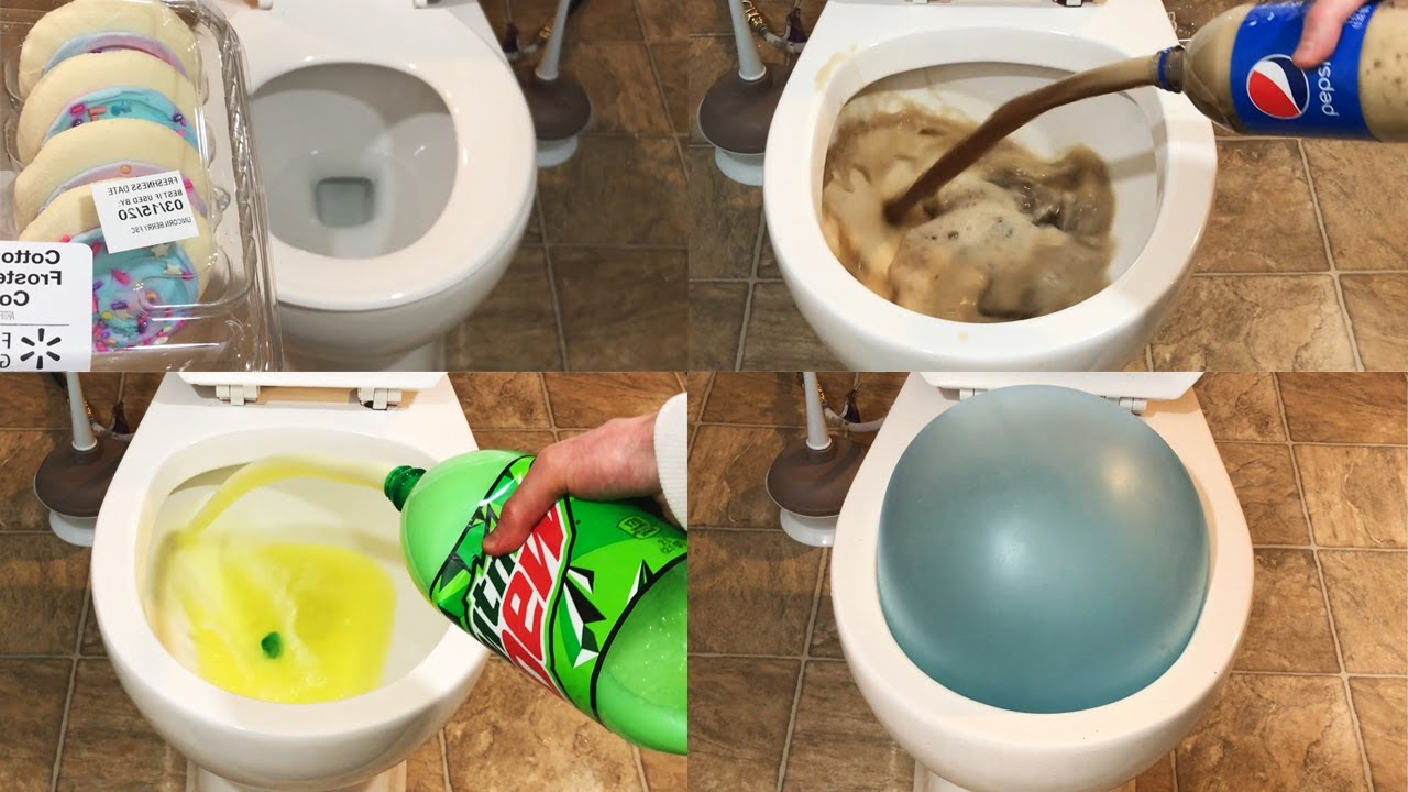 Will it Flush Compilation - June 2020 - Coca Cola, Wubble Bubble, Cookies, Pepsi, Soda, and more