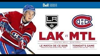 NHL 19 PS4. REGULAR SEASON 2018-2019: Los Angeles KINGS VS Montreal CANADIENS. 10.11.2018. (NBCSN) !