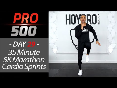 35 Minute Indoor 5K Marathon Cardio Home Workout for Runners PRO 500 Day 29