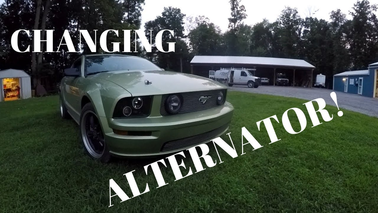 How To Change Alternator On 2006 Mustang Gt