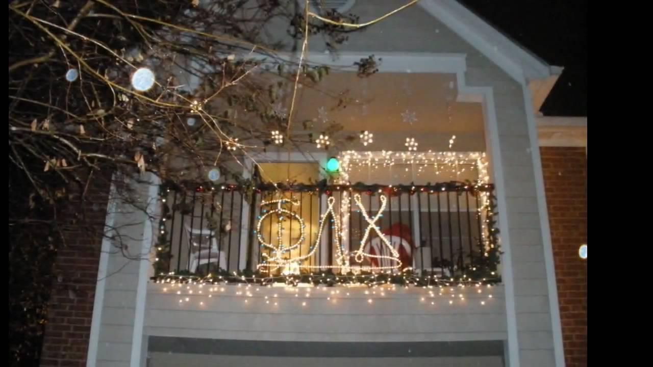 Balcony Decorating Contest 2009 - Jacob Wood - YouTube