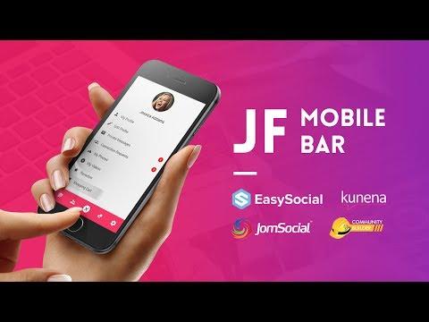 Joomla Mobile Menu Toolbar & Login Module - JF Mobile Bar