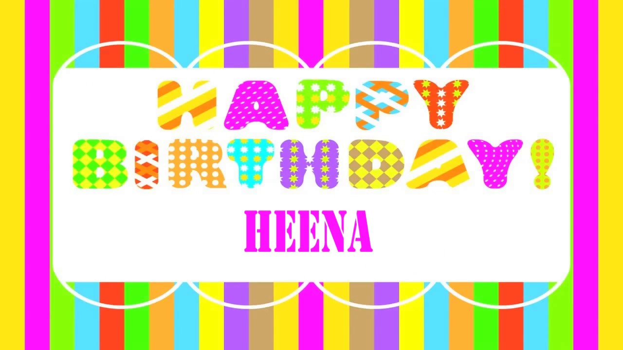 Heena Wishes Happy Birthday Heena Youtube
