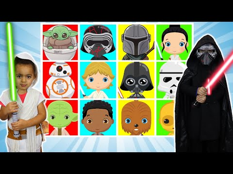 Giant Smash Surprise Game with STAR WARS by Anwar and Leah |