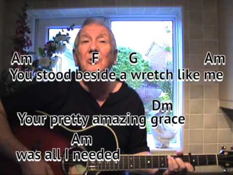 pretty amazing grace neil diamond cover easy chords guitar lesson on screen chords and. Black Bedroom Furniture Sets. Home Design Ideas