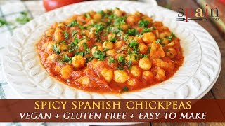 Spanish Chickpeas with Spicy Paprika Tomato Sauce