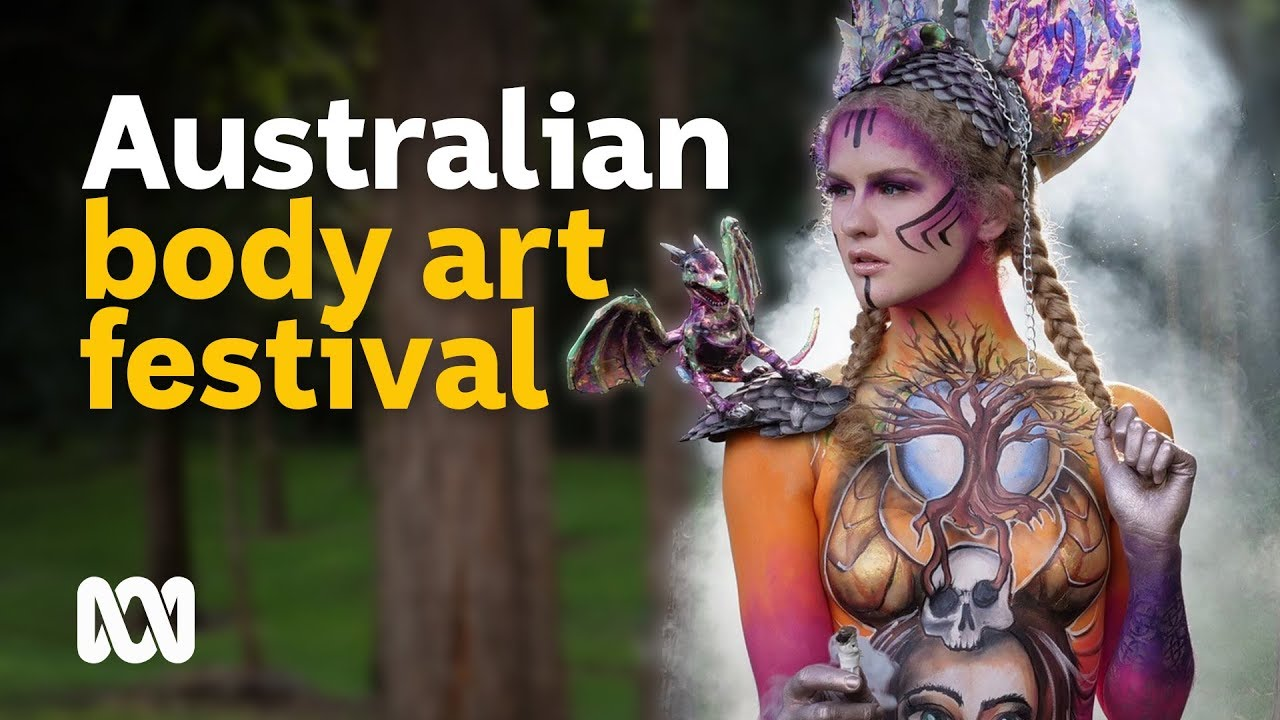 Human Canvasses Turn Into Art At The Australian Body Art Festival Youtube