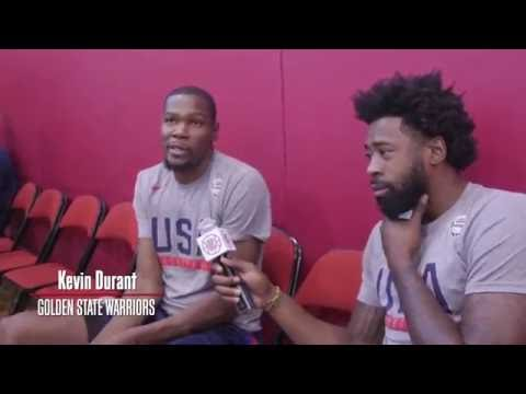 DeAndre Jordan Interviews Durant & George of Team USA | Day 3 - 7/21/16