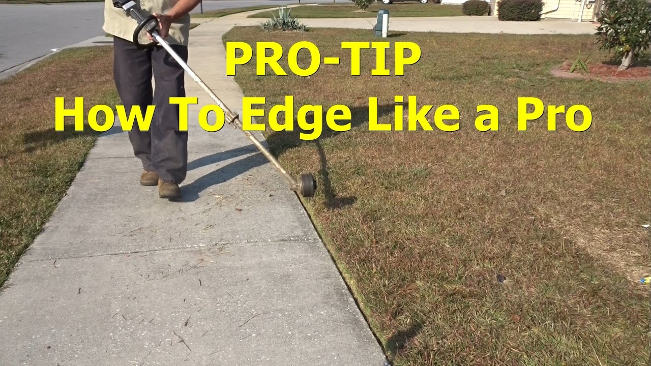 Edging a lawn for clean cut extreme how to.