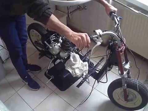 puch motorcycle roller rl 125 erster versuch first start best motorbike exhaust sound youtube. Black Bedroom Furniture Sets. Home Design Ideas