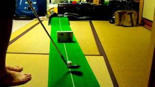 ゴルフ 自宅でアプローチ練習 ウェッジ52度 thumbnail