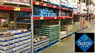 SAM'S CLUB CANNED FOOD MEAT CHICKEN TUNA RAMEN SOUP GROCERY SHOP WITH ME SHOPPING STORE WALK THROUGH