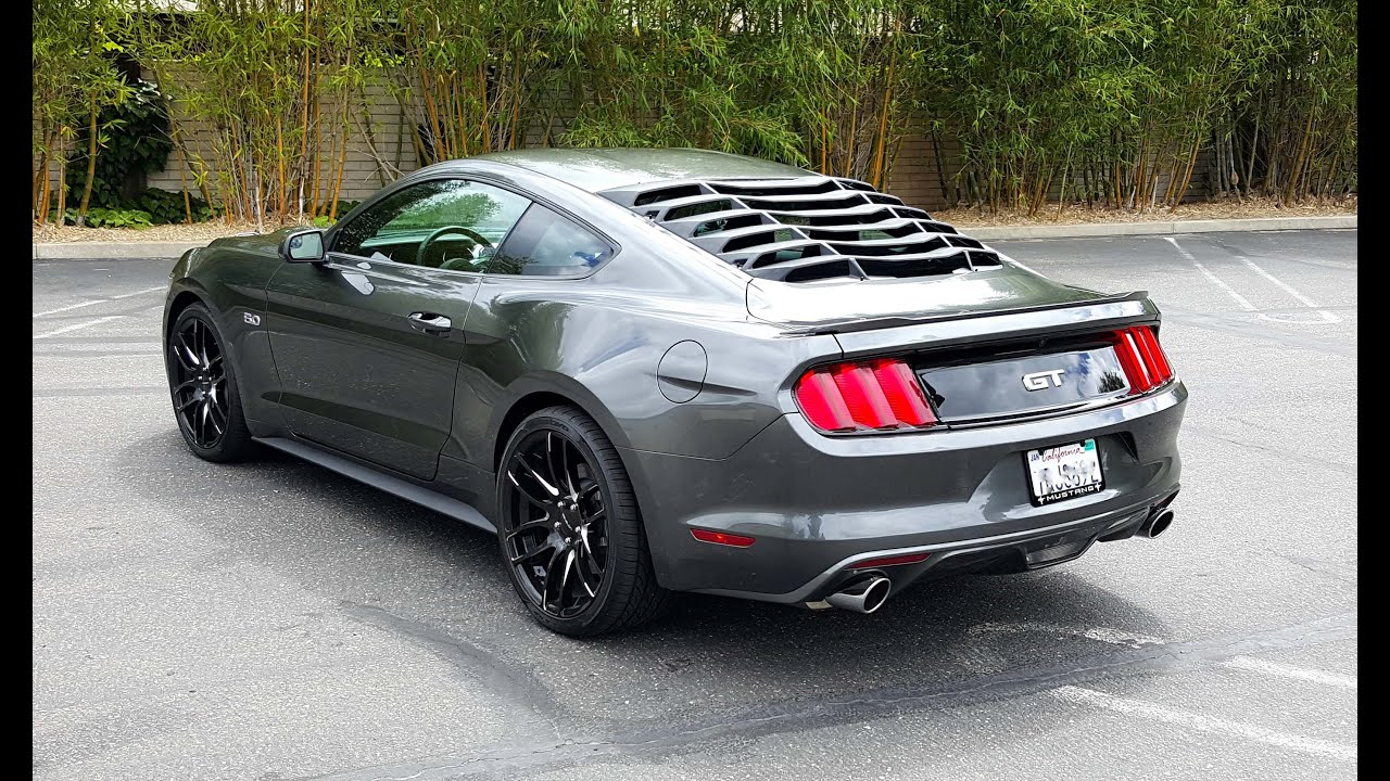 Rear Window Louver Installation 2015 2016 Mustang Gt Youtube