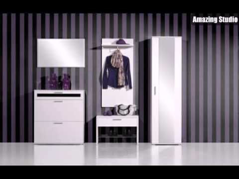 flur einrichten moderne m bel und wandgestaltung mit tapeten youtube. Black Bedroom Furniture Sets. Home Design Ideas