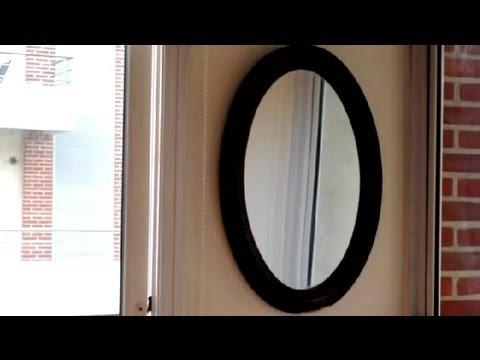 C mo colgar un espejo en una pared gruesa c mo reparar for Como colgar un espejo