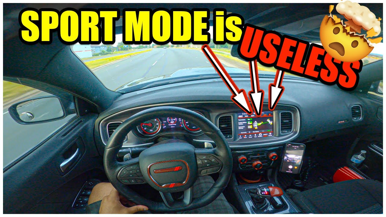 """""""SPORT MODE"""" on the DODGE CHARGER 392 SCAT PACK is COMPLETELY USELESS.. DO NOT USE IT!..(MUST WATCH)"""