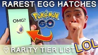 These Are The *actual* Rarest Eggs In PokÉmon Go - Secret Egg Rarity Tier List