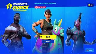 Fortnite you can vote for a skin now