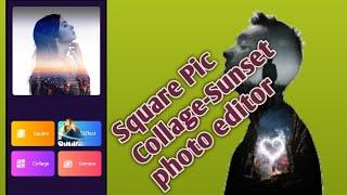Square Pic Collage-Sunset Photo Editor screenshot 2