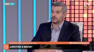 Marcos Peña, con Carlos Pagni - Apoyó la posibilidad de que Vidal sea candidata de Massa