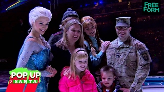 pop up santa disney on ice military family reunion   watch 25 days of christmas on abc family