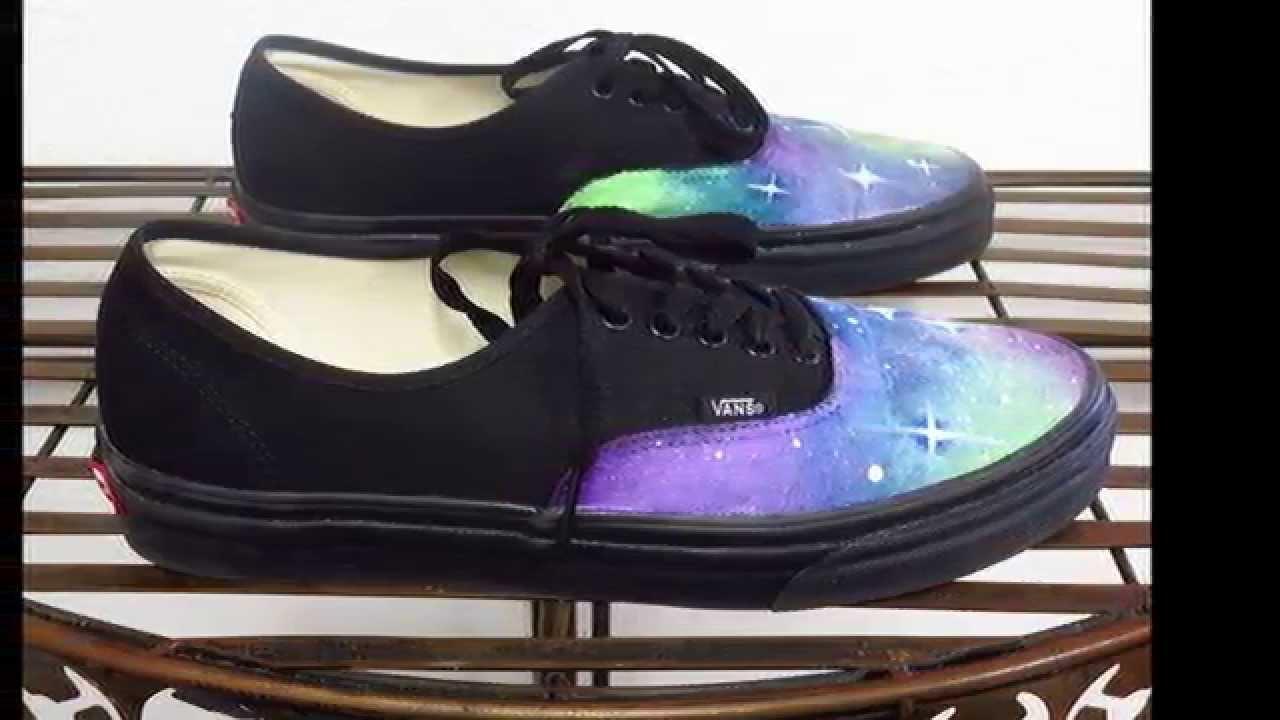 e68a618d0eb6 DIY  Custom Hand Painted Galaxy vans - YouTube