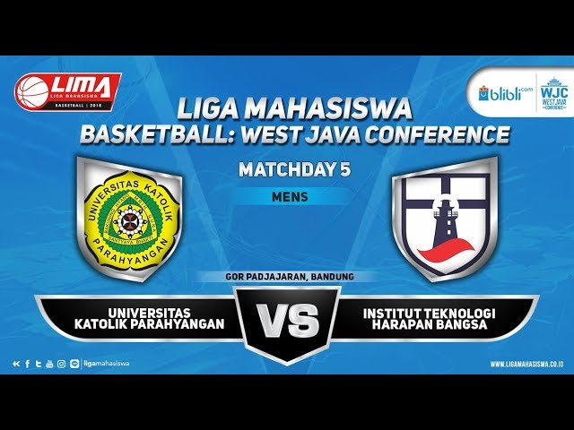 MEN'S UNPAR VS ITHB LIMA BASKETBALL: BLIBLI.COM WJC 2018