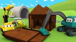 Der Bau Trupp: Der Kipplaster, der Kran und der Bagger Das Baumhaus| Lastwagen Bau-Cartoon-Serie