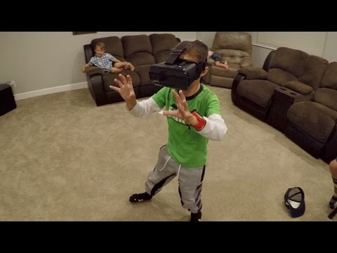 👓 KIDS TRY VIRTUAL REALITY FOR THE FIRST TIME - FUNNY REACTIONS 🤣