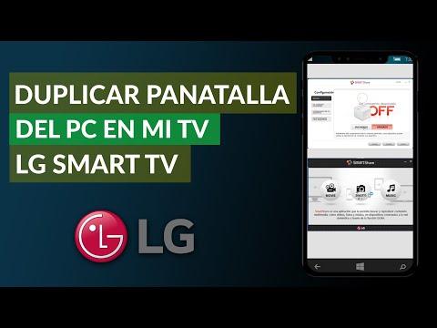Cómo Duplicar la Pantalla del PC en mi Televisor LG Smart TV