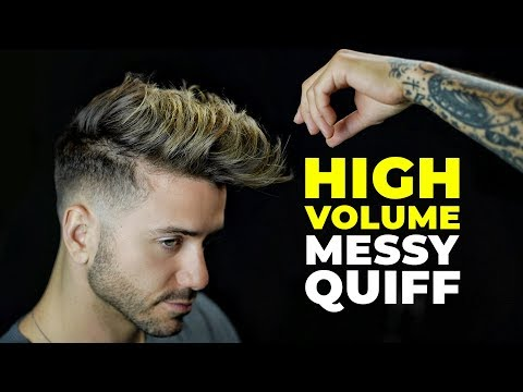 men's-messy-quiff-haircut-&-hairstyle-|-high-volume-2019-|-alex-costa