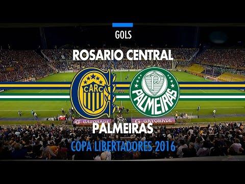 Gols - Rosario Central-ARG 3 x 3 Palmeiras - Libertadores - 06/04/2016