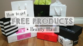 How to Get FREE Products + PR Unboxing!