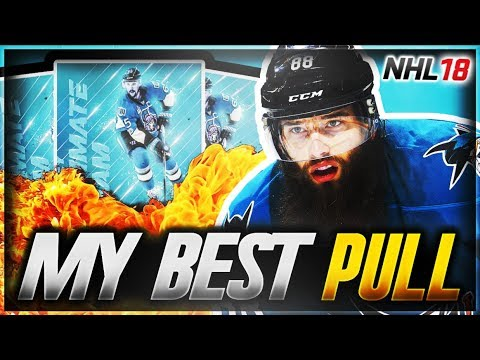 MY BEST PULL OF NHL 18 !!! - INSANE HUT PACK OPENING LUCK