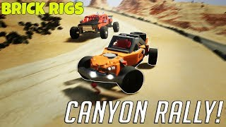 MULTIPLAYER CANYON RALLY! - Brick Rigs Multiplayer Gameplay Race Challenge