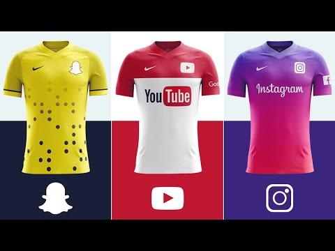 ماذا لو قامت أشهر المواقع والتطبيقات بعمل قمصان خاصة بها أيهم سيكون الأجمل