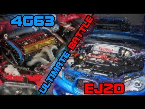 ULTIMATE SOUND BATTLE 4G63 vs EJ20! EVO vs SUBARU