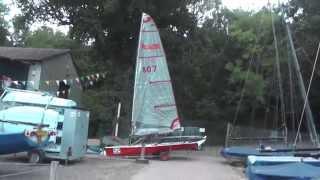 A video walk through / review of Ians Blaze dinghy. 807 a White Formular built Cirrus Mk3a