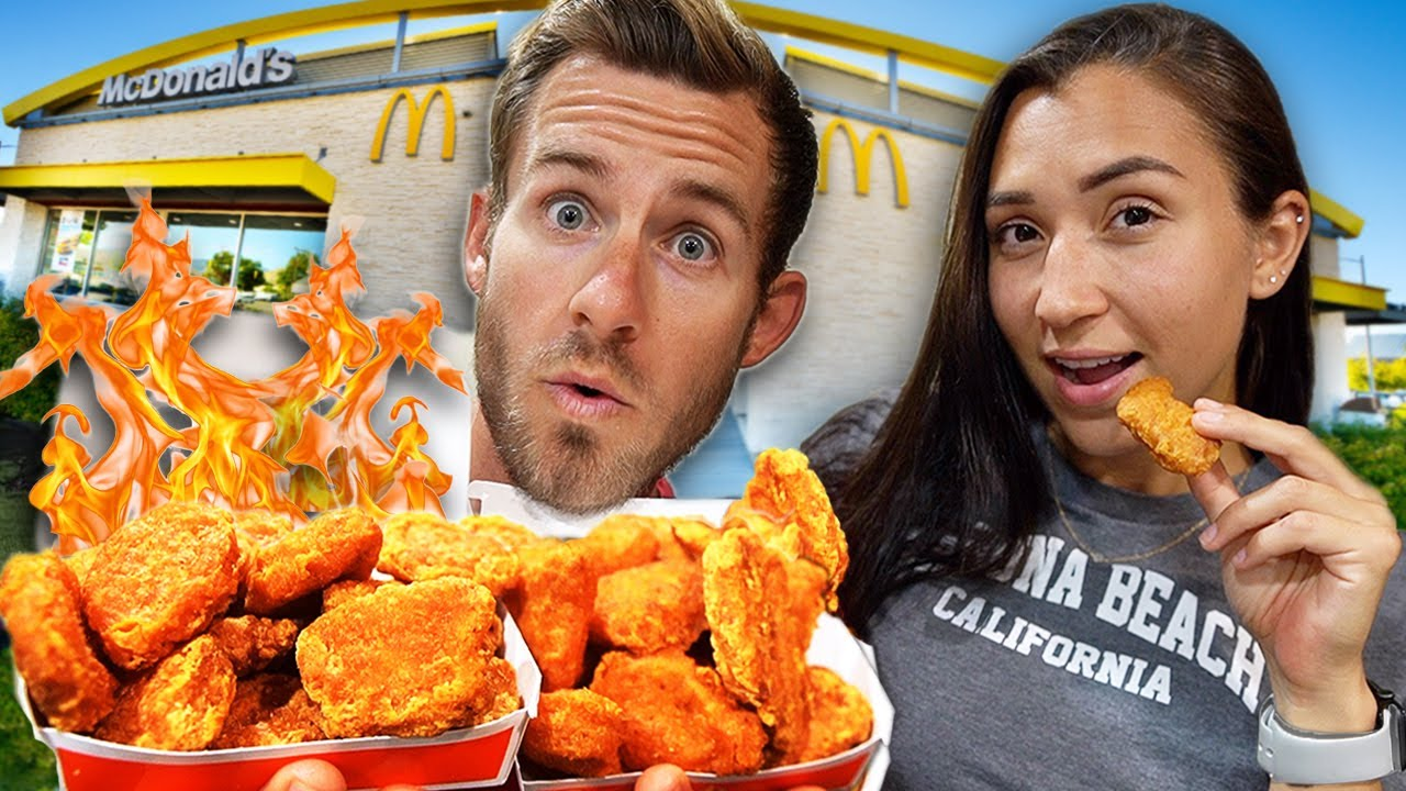 Eating McDonald's New SPICY McNuggets! (THIS Is What We Thought)
