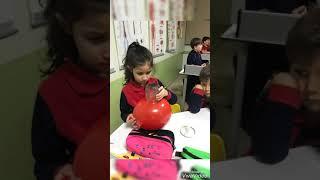Okulumuz 1. sınıf öğrencileri laboratuvar dersinde vakumlu mum deneyini yaptılar