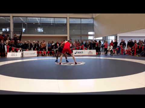 2015 Senior National Championships: 57 kg Alex Moher vs. Safiulla Sharar